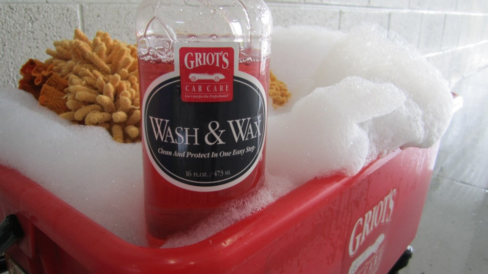 "Using the ""Ultimate Wash Bucket"" from Griot's, I used filled the built in measuring cup at the bottom with Wash & Wax."
