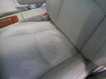 Another view of the cleaned seat. Once they were all cleaned with Griot's Leather Care Spray, the interior of the vehicle had a more softer and supple look.