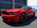 Here's the freshly detailed Mustang Boss 302.